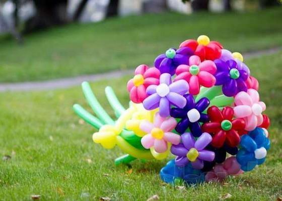 Как сделать цветок из шарика
