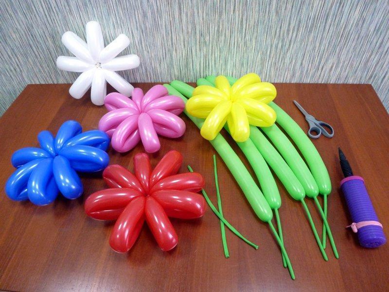 материалы для изгтовления цветов из шаров своими руками